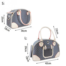Load image into Gallery viewer, PU Leather Handbag Dog Sleeping Mesh Folding Outdoor Travel Portable Cat Pet Carrier Bag - petsprive.com