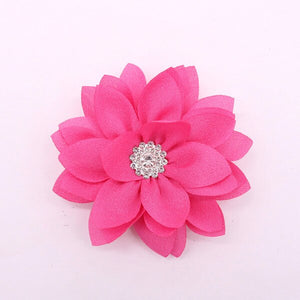 1 Pcs Pet Product Flower With Diamond Puppy Dog Removeable Collar Charms Pet Collar Accessories Beautiful Dog Collar Charms - petsprive.com