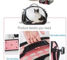 Load image into Gallery viewer, Pet Dog Cat backpack Travel cat carrier Double Shoulder Bag Space Capsule Cat Backpack for Bag Small Pet Handbag - petsprive.com