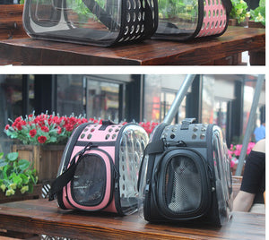 Pet Dog Cat backpack Travel cat carrier Double Shoulder Bag Space Capsule Cat Backpack for Bag Small Pet Handbag - petsprive.com