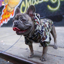 Load image into Gallery viewer, Dog Clothes Adidog Camouflage French Bulldog Pupreme Shirt Dog Camo Windbreaker Sport Retro Dog Hoodies Pet Clothes - petsprive.com