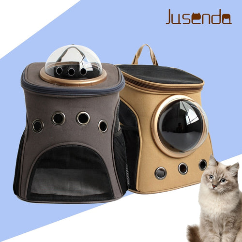 Fashion Travel Accessory Feather Space Capsule Transport Dog Bag for Small Puppy Chihuahua Pet Cat Carrier Backpack - petsprive.com