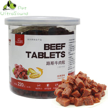 Load image into Gallery viewer, 220g 100% Natural Dry Pet Dog Food Snack Chews Treats Training Beef Granules Twist Sticks For Small Medium Pet - petsprive.com