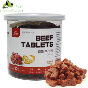 220g 100% Natural Dry Pet Dog Food Snack Chews Treats Training Beef Granules Twist Sticks For Small Medium Pet - petsprive.com