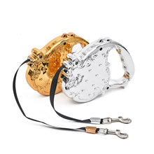 Load image into Gallery viewer, Luxury Gold/Silver Design Dog Auto Leash Retractable Pet Cat Flexible Auto Leash 3M Long Animals Bear 20KG Rope Top Quality - petsprive.com