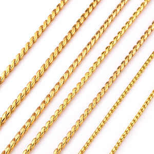 7 Size Gold Silver Stainless Steel P Chain Snake Chain Dog Harness Twisted Necklace Pet Show Training Choker Collars Dog Leash - petsprive.com