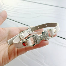 Load image into Gallery viewer, Bling Bone Pet Dog Collar with Rhinestone For Puppies Small Animals Cat Little Breeds Chihuahua Yorkshire Accessories Products - petsprive.com