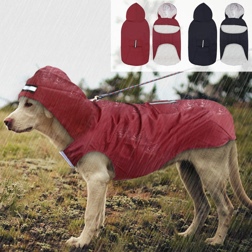 Pet Large Dog Raincoat Waterproof Big Dog Clothes Outdoor Coat Rain Jacket For Golden Retriever Labrador Husky - petsprive.com