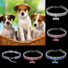 Load image into Gallery viewer, Bling Crystal Dog Collar Diamond Puppy Pet Shiny Full Rhinestone Necklace Collar Collars for Pet Little Dogs Supplies S/M/L - petsprive.com