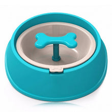 Load image into Gallery viewer, Dog Cat Driking Water Fun Bone Shaped Slow Feeder Dog Food Bowls Water Bowl Dishes for Puppy Small Large - petsprive.com