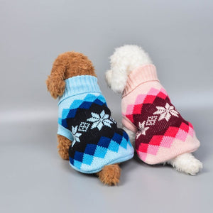 15 Colors Winter Dog Coat Clothes Warm Soft knitting Pet Dog Vest Sweater For Small Medium Dogs Classic Pattern - petsprive.com