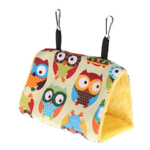 Plush Bird Hanging Cave Cage Parrot Nest Hammock Hanging Cage Warm Winter Birds Cage Bed - petsprive.com