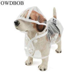1pc Waterproof Dog Raincoat with Hood Transparent Pet Dog Puppy Rain Coat Cloak Costumes Clothes for Dogs Pet Supplies - petsprive.com