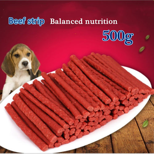 Pet Feeding Food Healthy Delicious Senior Dog Snack Beef stick 500g Dog Food Training Snacks - petsprive.com