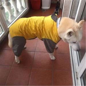 Large Dog Raincoat Clothes Waterproof Rain Jumpsuit For Big Medium Small Dogs - petsprive.com
