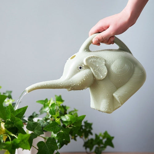 Garden Plastic Elephant Watering Can 2 quart 1/2 Gallon Home Patio Lawn Gardening Tool Plant Outdoor Irrigation Watering Pot Jug - petsprive.com