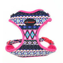 Load image into Gallery viewer, Dog Harness Small Folk Style Soft Canvas Pet Harness and Leash Set Breathable Adjustable Puppy Harness Vest Walking Leads Yorkie - petsprive.com