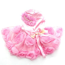 Load image into Gallery viewer, Pet Dog Princess Dress Tutu Rosette&bow Dresses Cat Puppy Skirt Spring/Summer Clothes  Apparel 2 colours - petsprive.com
