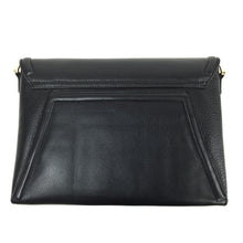 Claudette Portfolio Clutch in Black Onyx & Gunmetal