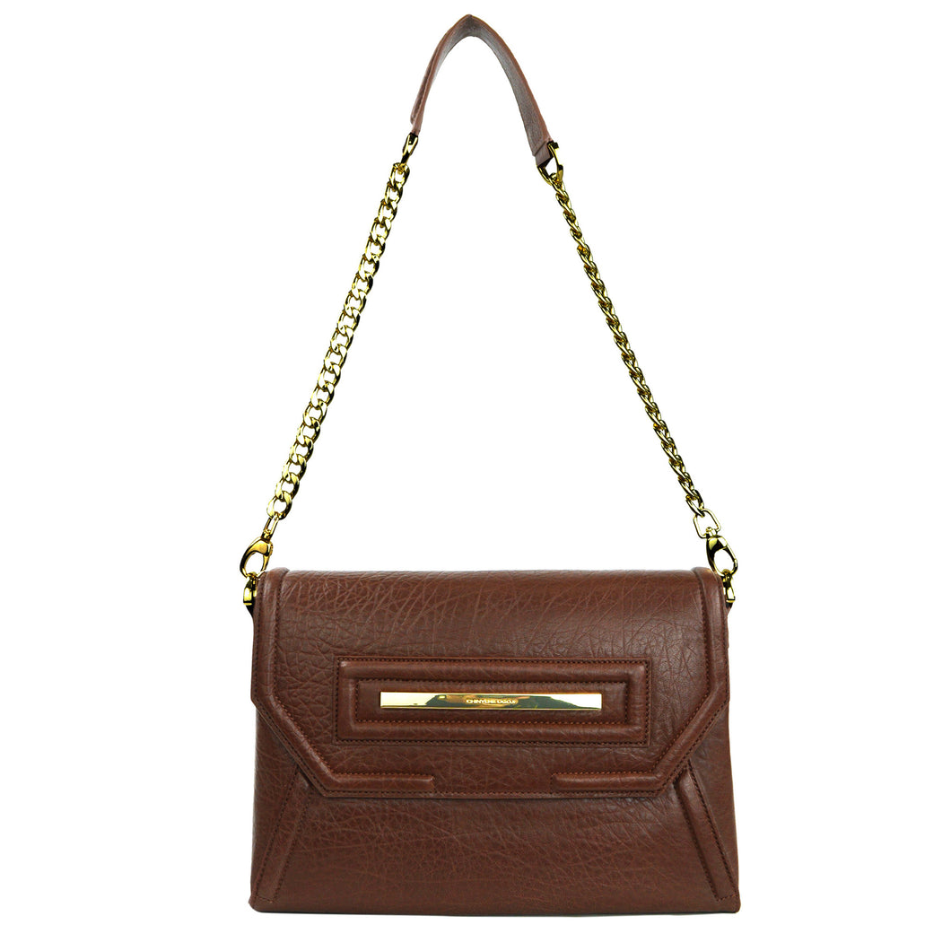 Claudette Portfolio Clutch in Cognac