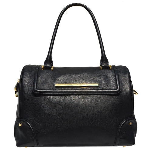 Soho Weekender in Black Onyx & Gold