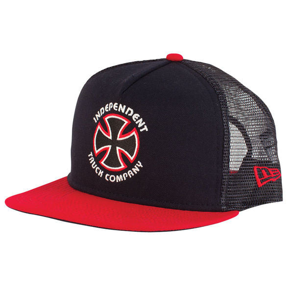 Independent New Era Bauhaus Cross Trucker Hat