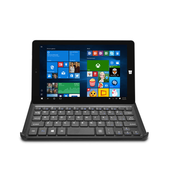 Tablette Ematic 8″ HD 32GB avec Windows 10, WiFi et clavier amovible