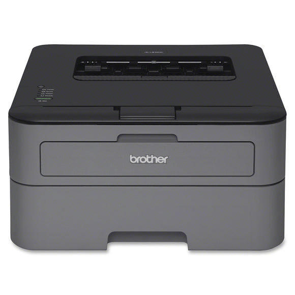 Brother HL-L2320D Laser Printer - Monochrome - 2400 x 600 dpi Print - Plain Paper Print - Desktop 30 ppm Mono Print - 251 sheets Standard Input Capacity - 10000 pages per month - Automatic Duplex Print - USB