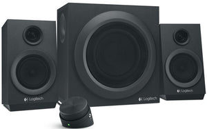 Logitech Z333 2.1 Speaker System - 40 W RMS - Black 55 Hz - 20 kHz - Control Pod, Bass Level Management (BLM)