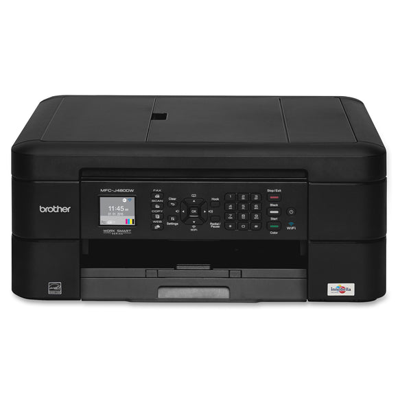 Brother Work Smart MFC-J480DW Inkjet Multifunction Printer - Color - Plain Paper Print - Desktop Copier/Fax/Printer/Scanner - 27 ppm