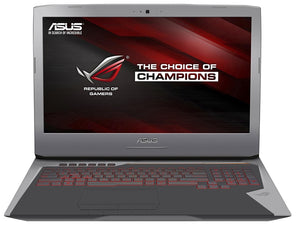 "ROG G752VY-DH78K 17.3"" LCD Notebook - Intel Core i7 i7-6820HK Quad-core (4 Core) 2.70 GHz - 64 GB DDR4 SDRAM - 1 TB HDD - 512 GB SSD - Windows 10 64-bit - 1920 x 1080 - In-plane Switching (IPS) Technology - Copper Silver, Gray"