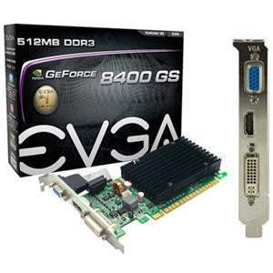 GeForce 8400 GS Graphic Card - 520 MHz Core - 512 MB DDR3 SDRAM - PCI Express 2.0 x16 1200 MHz Memory Clock - 2560 x 1600 - SLI - HDMI - DVI - VGA