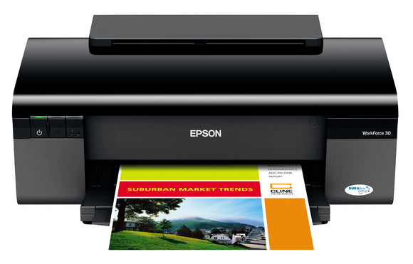 Epson WorkForce 30 Inkjet Printer Color - 38 ppm Mono - 27 ppm Color - 5760 x 1440 dpi - USB - PC, Mac