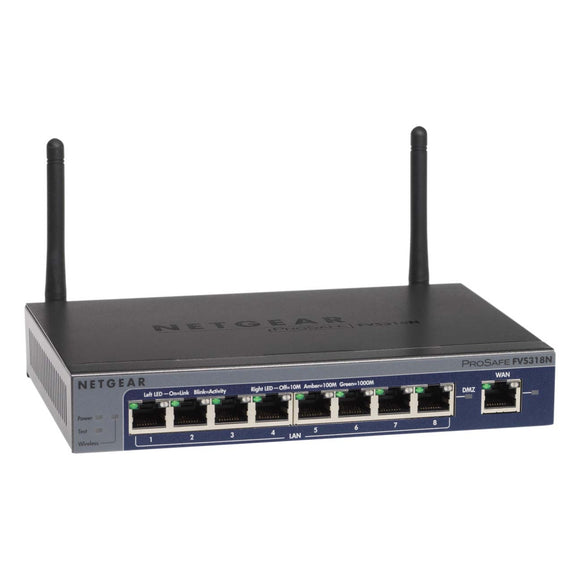 Netgear ProSafe FVS318N VPN Appliance 9 Port Gigabit Ethernet - Wireless LAN IEEE 802.11n
