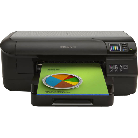HP Officejet Pro 8100 N811A Inkjet Printer - Color - 4800 x 1200 dpi Print - Plain Paper Print - Desktop 20 ppm Mono Print / 16 ppm Color Print (ISO) - 250 sheets Input - Automatic Duplex Print - Fast Ethernet - Wireless LAN - USB
