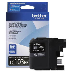 Brother Innobella High Yield (XL Series) Black Ink Cartridge Inkjet - High Yield - 600 Page - 1 Each Each - OEM