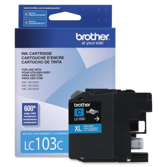 Brother Innobella High Yield (XL Series) Cyan Ink Cartridge Inkjet - High Yield - 600 Page - 1 Each Each - OEM