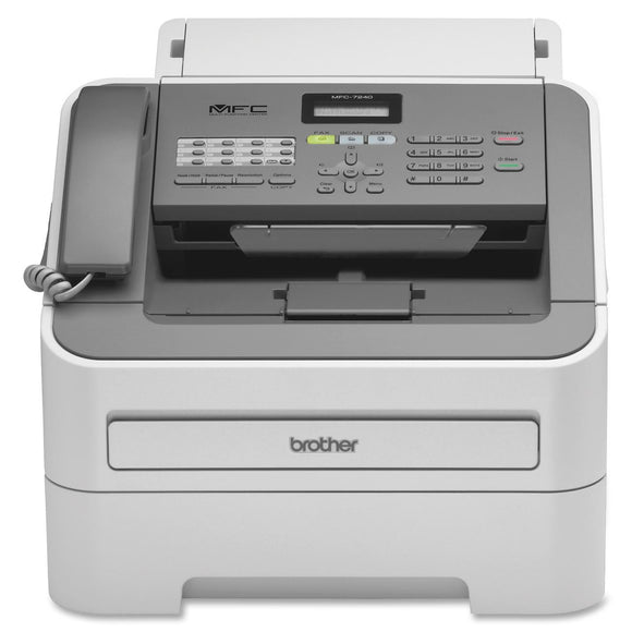 Brother MFC-7240 Laser Multifunction Printer - Monochrome - Plain Paper Print - Desktop Copier/Fax/Printer/Scanner - 21 ppm Mono Print - 2400 x 600 dpi Print - 21 cpm Mono Copy LCD - 600 dpi Optical Scan - 250 sheets Input - USB