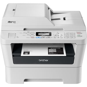 Brother MFC-7360N Laser Multifunction Printer - Monochrome - Plain Paper Print - Desktop Copier/Fax/Printer/Scanner - 24 ppm Mono Print - 2400 x 600 dpi Print - 24 cpm Mono Copy LCD - 600 dpi Optical Scan - 250 sheets Input - Fast Ethernet - USB