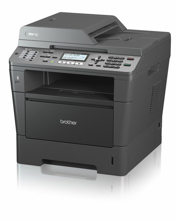 Brother MFC-8510DN Laser Multifunction Printer - Monochrome - Plain Paper Print Copier/Printer/Scanner - 38 ppm Mono Print - 38 cpm Mono Copy - Automatic Duplex Print - 300 sheets Input - Ethernet - USB