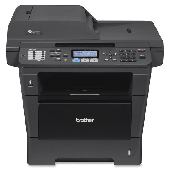 Brother MFC-8710DW Laser Multifunction Printer - Monochrome - Plain Paper Print - Desktop Copier/Fax/Printer/Scanner - 40 ppm Mono Print - 1200 x 1200 dpi Print - 40 cpm Mono Copy LCD - 1200 dpi Optical Scan - Automatic Duplex Print - 300 sheets Input - E