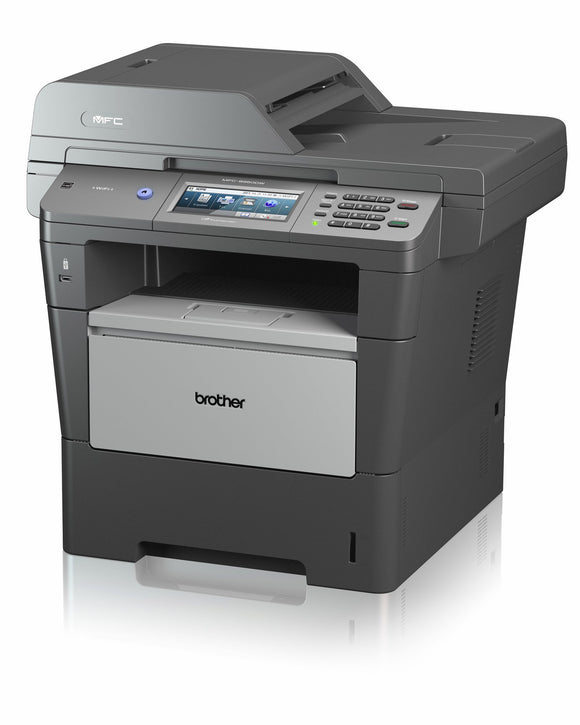 Brother MFC-8950DW Laser Multifunction Printer - Monochrome - Plain Paper Print - Desktop Copier/Fax/Printer/Scanner - 42 ppm Mono Print - 1200 x 1200 dpi Print - 42 cpm Mono Copy - Touchscreen LCD - 1200 dpi Optical Scan - Automatic Duplex Print - 550 sh