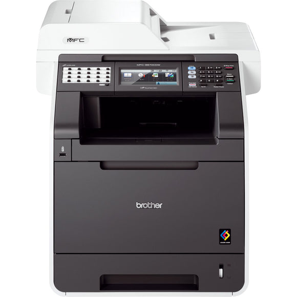 Brother MFC-9970CDW Laser Multifunction Printer - Color - Plain Paper Print - Desktop Copier/Fax/Printer/Scanner - 30 ppm Mono/30 ppm Color Print - 2400 x 600 dpi Print - 30 cpm Mono/30 cpm Color Copy - Touchscreen LCD - 1200 dpi Optical Scan - Automatic