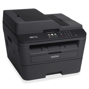 Brother MFC-L2740DW Laser Multifunction Printer - Monochrome -  Desktop Copier/Fax/Printer/Scanner - 32 ppm Mono Print -  32 cpm Mono Copy - 600 dpi Optical Scan - Automatic Duplex Print - 250 sheets Input - Fast Ethernet - Wireless LAN - USB