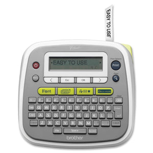 "Brother P-Touch PT-D200 Label Maker 20 mm/s Mono - Tape, Label - 0.1"" (3.5 mm), 0.2"" (6.0 mm), 0.4"" (9.0 mm), 0.5"" (12.0 mm) - Thermal Transfer - 180 dpi QWERTY, Manual Cutter, Vertical Printing, Label Length Setting, Auto Numbering, Mirror Printing, Repe"
