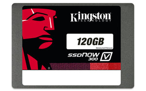 "Kingston SSDNow V300 120 GB 2.5"" Internal Solid State Drive SATA - 450 MBps Maximum Read Transfer Rate - 450 MBps Maximum Write Transfer Rate"