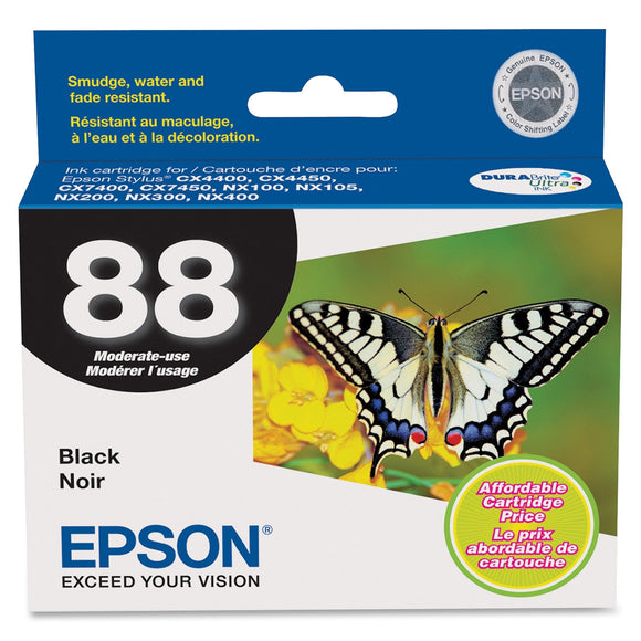 Epson DURABrite 88 Moderate Capacity Ink Cartridge Inkjet - 1 Each - OEM