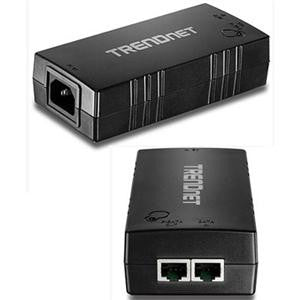 TRENDnet Gigabit PoE+ Injector 110 V AC, 220 V AC Input - 1 10/100/1000Base-T Input Port(s) - 1 10/100/1000Base-T Output Port(s) - 30 W