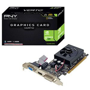 PNY GeForce GT 610 Graphic Card - 810 MHz Core - 1 GB DDR3 SDRAM - PCI Express 2.0 x16 1000 MHz Memory Clock - 2560 x 1600 - DirectX 11.0 - HDMI - DVI - VGA