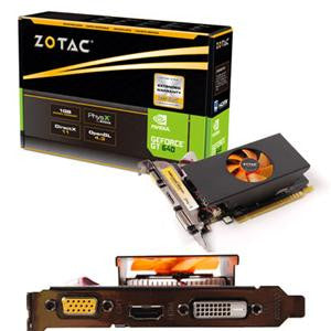 Zotac ZT-60208-10L GeForce GT 640 Graphic Card - 1046 MHz Core - 1 GB GDDR5 SDRAM - PCI Express 3.0 x16 5000 MHz Memory Clock - 2560 x 1600 - Fan Cooler - DirectX 11.1 - HDMI - DVI - VGA